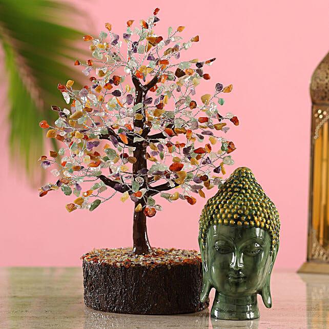 Wish Tree With Buddha Idol
