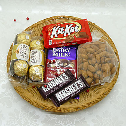 Yummy And Crunchy Bhai Dooj Thali:Gift Combos to USA